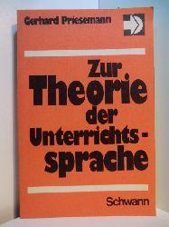 Priesemann, Gerhard:  Zur Theorie der Unterrichtssprache
