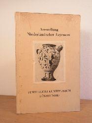 Lasch, Bernd:  Ausstellung Niederländischer Fayencen des 16. bis 19. Jahrhunderts aus Düsseldorfer und Holländischem Museums- und Privatbesitz vom 22. Februar bis 20. April 1931
