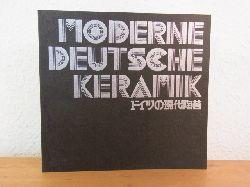 Nationalmuseum für Moderne Kunst in Kyoto Deutsches Kulturinstitut Kyoto und  Kyoto Shimbun:  Moderne deutsche Keramik. Ausstellung Nationalmuseum für Moderne Kunst in Kyoto, 25. Mai bis 27. Juni 1976 (Text in japanischer und deutscher Sprache)