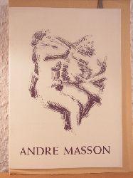 Kahnweiler, Daniel-Henry (Text):  Das graphische Werk von Andre Masson. Radierungen und Lithographien, 1924 bis 1952. Wanderausstellung von Januar bis Juli 1954