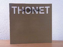 Gomringer, Eugen:  Thonet - Klassiker der guten Form. Zur Wiederaufnahme des alten Wiener Kaffeehaus Stuhles mit der Bezeichnung 214 in das moderne Programm der Gebrüder Thonet A.G.