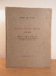Sánchez Cantón, Sr. D. Francisco Jasvier (redacción y publicación):  Antonio Rafael Mengs 1728 - 1779. Noticia de su vida y de sus obras con el catálogo de la exposición celebrado en mayo de 1929