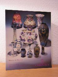 Christie`s London:  Moorcroft Pottery. Auction 30 September, 1991, Christie`s South Kensington, London. Sale Code: AND 4415