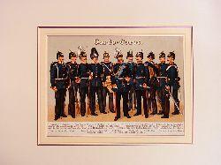 Kirmse, Gustav:  Garde-Corps. Farbige Chromolithographie unter Passepartout