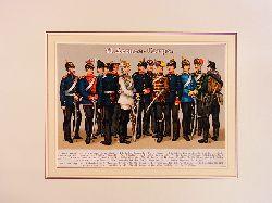 Kirmse, Gustav:  VI. Armee-Corps. Farbige Chromolithographie unter Passepartout