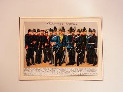Kirmse, Gustav:  XV. Armee-Corps. Farbige Chromolithographie unter Passepartout