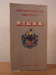 Koch, Cornelia (redaktionelle und und kartographische Bearbeitung):  Übersichtsplan der Stadt Riesa