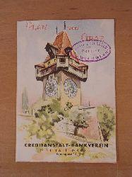 Creditanstalt-Bankverein Filiale Graz:  Plan von Graz