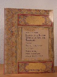 Christie`s London:  Indian and Islamic Works of Art and Textiles. Auction 15 and 16 April 2010, Christie`s South Kensington, London. Sale Code: TEX-5454 and COR-5495