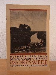Bachmann, H. Fitschen, Krummacher, Stradtmann, Dr. Michaelis , H. Paulsen u. a.:  Mit der Kleinbahn Bremervörde - Osterholz nach Worpswede und dem Teufelsmoor