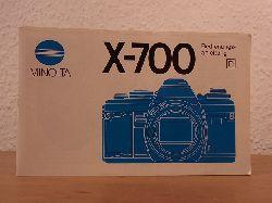 Minolta Camera Handelgesellschaft:  Minolta X-700. Bedienungsanleitung