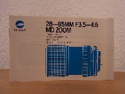 Minolta Camera Handelgesellschaft:  Minolta 28-85MM F3.5-4.5 MD ZOOM. Bedienungsanleitung / Owner`s Manual