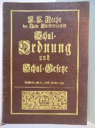 Rath, E. E.:  E. E. Raths der Stadt Hamburg Schul-Ordnung und Schul-Gesetze der öffentlichen St. Johannis Schule daselbst, publicirt am 11. Junii Anno 1732. Faksimileausgabe