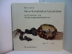 Hansen, Eliza:  Meine rumänischen Spezialitäten. Mit Zeichnungen von Alfred Mahlau und Horst Janssen. Signiert