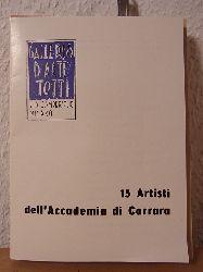 Galleria d`Arte Totti, Milano:  15 Artisti dell`Accademia di Carrara. Mostra Maggio 1959, Galleria d`Arte Totti, Milano