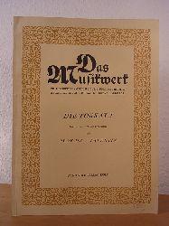 Valentin, Prof. Dr. E.:  Die Tokkata. Mit einer geschichtlichen Einführung (Das Musikwerk Band 17)