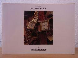 Manufacture Jaeger-LeCoultre SA:  Jaeger-LeCoultre. Reverso. Avantgarde seit 1931. Katalog 1989 mit beiliegender Preisliste DM April 1989