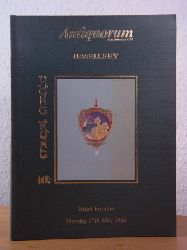Antiquorum Auctioneers - Chairman: Osvaldo Patrizzi:  Fine Jewellery. Auction 27th May 1985 at the Furama Intercontinental Hotel, Hong Kong. Catalogue
