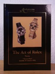 Antiquorum Auctioneers:  The Art of Rolex. An important Collection of Wristwatches. The Property of various Owners, to be offered for Sale by Auction at the Horology Fair of Vicenza, 18. January 1992 by Antiquorum Auctioneers Italia. Catalogue