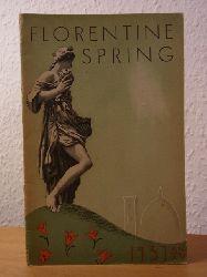 Ente nazionale per el industrie turistiche:  Florentine Spring 1937 - XV (English Edition)