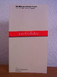 Albers, Bernhard (Hrsg.):  Die Welt kennt keine Poesie. 100 Gedichte von 100 Autoren [signiert von Bernhard Albers]