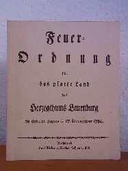 Alvensleben, J. F. C. von:  Feuer-Ordnung für das platte Land des Herzogthums Lauenburg, de dato St. James d. 17. December 1784. Faksimile der Ausgabe von 1784