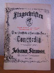 Deutsche Johann Strauss Gesellschaft e.V. und Dr. Udo Unger (Red.):  Flugschriften Heft 1 / 1975. Deutsche Johann Strauss Gesellschaft Mitteilungsblatt