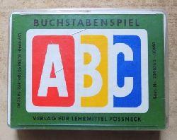 Hellmund, Günther  Buchstabenspiel - Ein Unterhaltungs- und Lehrspiel für Kinder von 8 Jahren an.