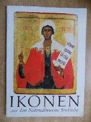 Abel, Ulf  Russische Ikonen aus dem Nationalmuseum Stockholm - Mappe mit 24 Abbildungen.