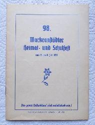 98. Markranstädter Heimat- und Kinderfest vom 5. bis 8. Juli 1958. Motto: Blütenzauber.