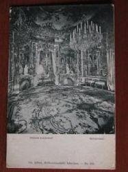 alte AK s/w SCHLOSS LINDERHOF: Spiegelsaal