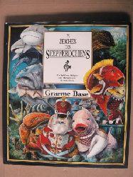 Base, Greame/Grafin Schönfeldt, Sybil (Übersetz.) Im Zeichen des Seepferdchens. Ein Spiel von Habgier und Herrschsucht in zwei Akten Deutsche Erstausgabe