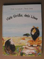 Neumayer, Gabi/Conti, Elena (Illustr.) Viele Grüsse, dein Löwe!  Eine unterhaltsame und komische Stille-Post-Geschichte