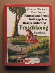 Lila Leokadia Hellmann & Eiko Weigand  (Illustr.)/Heikedine Körting (Nacherzähl.) Berühmte Märchen der Brüder Grimm: Hänsel und Gretel/Rotkäppchen/Rumpelstilzchen/Froschkönig (Sammelband)