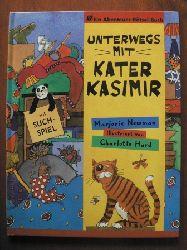Newman, Marjorie / Hard, Charlotte (Illustr.) Unterwegs mit Kater Kasimir. Ein Abenteuer- Rätsel- Buch mit Suchspiel