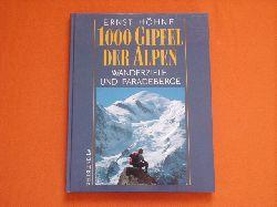 Höhne, Ernst  1000 Gipfel der Alpen. Wanderziele und Paradeberge.