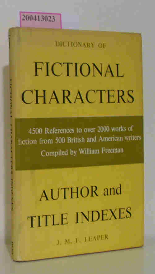 J.M.F. Leaper  J.M.F. Leaper Dictionary of Fictional Characters