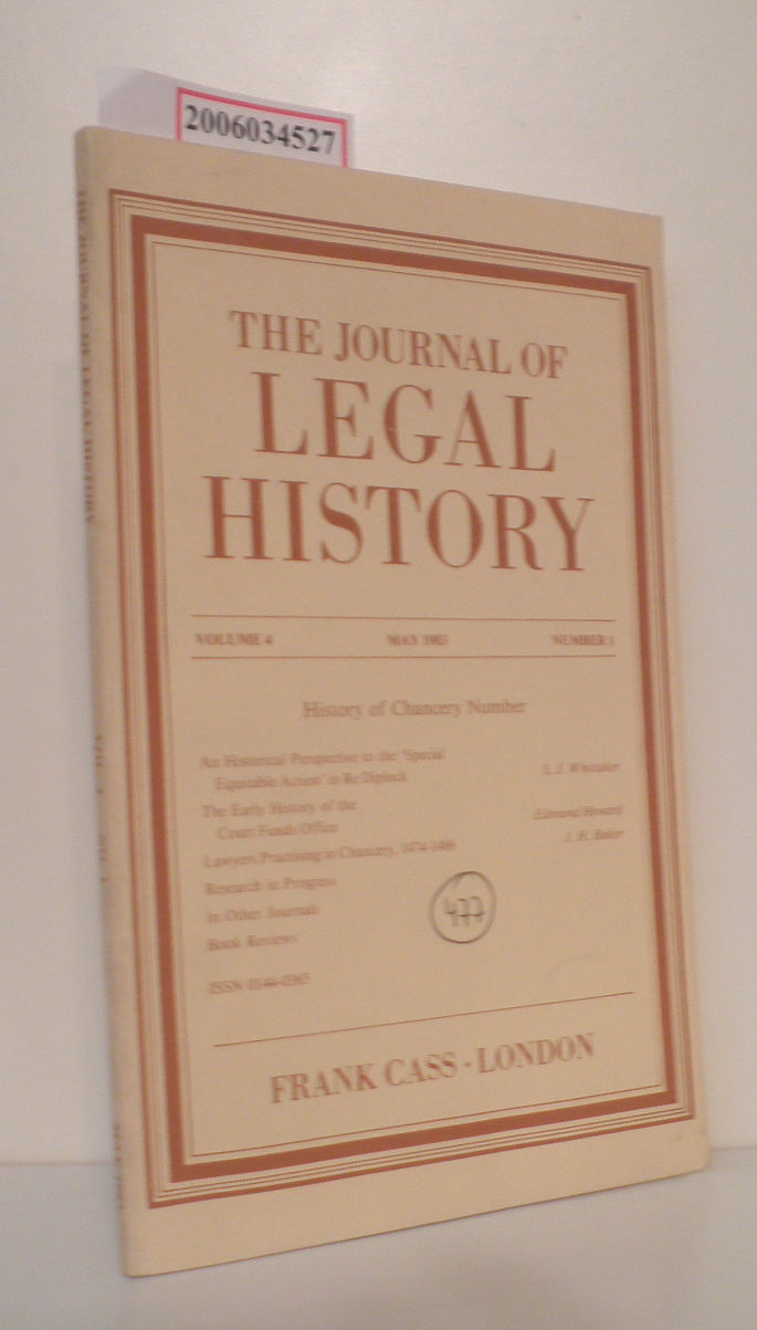 Prof. Albert Kiralfy   Prof. Albert Kiralfy  The Journal of Legal History
