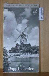 Popp - Kalender 1960 Ansichtskartenkalender