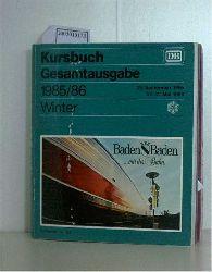 Kursbuch gesamtausgabe 1985/1986 winter