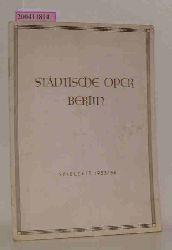 Städtische Oper Berlin / Spielzeit 1953/54
