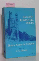 M.H. Abrams  M.H. Abrams English Romantic Poets