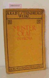 A. Strindberg  A. Strindberg Meister Olaf in Prosa
