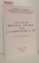 Blanquer, Aurora Juarez  Blanquer, Aurora Juarez Las Lenguas Romanicas Espanolas tras la Constitucion de 1978