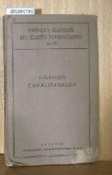 Goldstein, E.  Goldstein, E. Canalstrahlen
