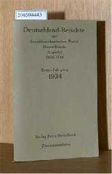 Nettelbeck, Petra  Nettelbeck, Petra Deutschlandberichte Der Sozialdemokratischen Partei Deutschlands 1934 - 1960 / Erster Jahrgang 1934