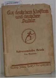 Meerkatz, Albert  Meerkatz, Albert Astronomische Briefe