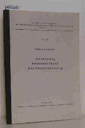 Hawerk, Winfried  Hawerk, Winfried Zur Anwendung kinematischer Modelle in der Grundstücksbewertung
