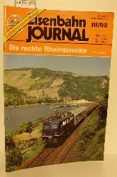 Kandler, Udo  Kandler, Udo Die  rechte Rheinstrecke,  Eisenbahnjournal III/92