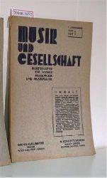 Musik und Gesellschaft 1. Jahrgang 1930 Heft 1